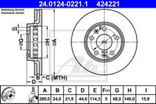 2x Bremsscheibe für Bremsanlage Vorderachse ATE 24.0124-0221.1
