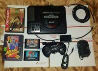 Sega Genesis Console Mod 1601 1st Gen 4 Games Hook-Ups Controller. Clean Nice!