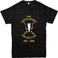 Harry Potter T-Shirt, Quidditch TEAM HUFFLEPUFF T-Shirt, Inspired Design Top