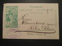 1900 Switzerland Cologne Rhine River Germany Postal Stationary Postcard Cover