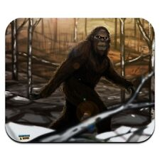 Bigfoot Sasquatch Walking in the Woods Low Profile Thin Mouse Pad Mousepad