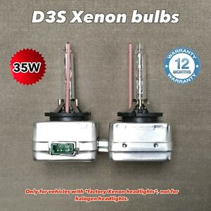 D3S 35W XENON HID HEADLIGHT OE REPLACMENT BULBS FOR 15-20 CHALLENGER