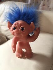 Troll von Thomas Dam mit Blau Haare 1977,  groß Made In Dänemark