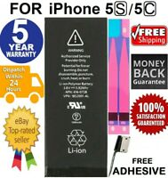 BATTERY REPLACEMENT FOR IPhone 5S 5C - SUPERIOR QUALITY CELLS / oem + Free Tape