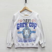 Vintage 1991 Toronto Argonauts Grey Cup Sweatshirt Crewneck Size Small 90s CFL