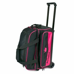 Brunswick Zone Black/Pink 2 Ball Roller Bowling Bag