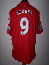 Fernando TORRES #9 Liverpool Reds Home Football Shirt Jersey 2008-2010 (XL)