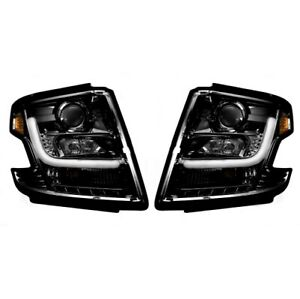 Recon 264400BKC Projector Headlights OLED Halos For 15-19 Chevy Tahoe NEW