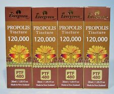 EVERGREEN PROPOLIS TINCTURE 1.05OZ PTF 480 MADE IN NEW ZEALAND 4 LOT