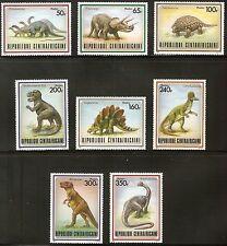 Central Africa Mnh #872-9 Dinosaur Set Of 8 Cv$17.00