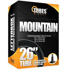 "Bike Inner Tube 26"" x 1.75 to 1.90 1.95 (47 - 559) Car Valve RRP £6.99 [D5-1]"