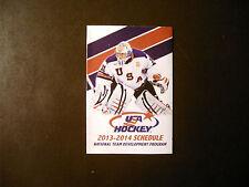 USA Hockey 2013-14 National Team Development pocket schedule