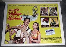 THE 7TH VOYAGE OF SINBAD original 22x28 ROLLED movie poster RAY HARRYHAUSEN