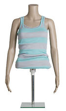 "Half Body Mannequin Form Female Adjustable Height 29 ¾"" to 44"" Chest 33"""