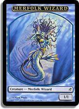 5x TOKEN Mago Tritone - Merfolk Wizard MTG MAGIC Lor Eng/Ita