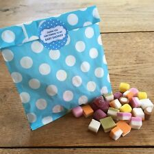 Baby Shower Sweet Bags & Stickers - Party Game Prize Favour - Blue - 10 Pack