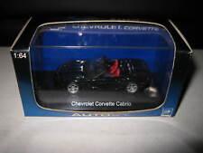 AUTOart 1.64 Chevrolet Corvette Convertible 1998 Black #20151 Old Shop Stock