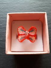 Brand new childs red butterfly ring size K.5! Childrens kids costume jewellery!