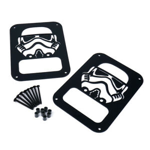 STORMTROOPER Aluminum Rear Tail Light Guard Covers for 07-18 Jeep Wrangler JK