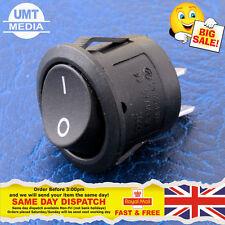 Interruttore a Bilanciere Rotondo 12v – 20mm ON/OFF 12 Volt Nero copertura auto – UK Venditore