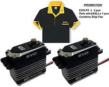 EVO-P2 Digital Brushless servo x 2pcs + EVO Polo Shirt(XXL) + Combine Ship Fee