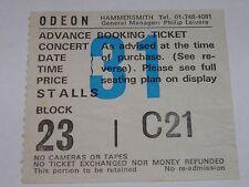 Black Sabbath  - Vintage Ticket Hammersmith 2 June 1986