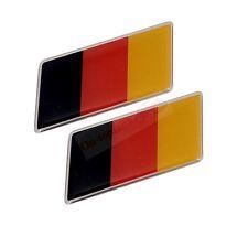 2x ABS Plastic Germany Flag Trunk Rear Emblem Badge Sticker Decal Mercedes-Benz