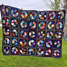 "Vintage Handmade Crochet Afghan Quilt Throw Blanket 45"" x 62"""