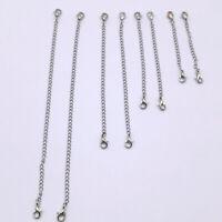 4/8pcs Sterling Silver Extender Extension Chain Lobster Clasp Necklace Bracelet