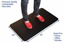 Thick Cushioned Anti Fatigue Comfort Floor Mat Cushioned Standing Desk Office