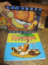 Lot of 2 Garfield the cat treasury 10th 4th Jim Davis - FOL