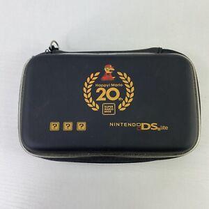 Super Mario Happy 20th Anniversary Nintendo DS Lite Zipper Soft Travel Case Rare