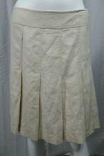 Womens City DKNY Pleated Linen Skirt Size 4