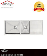 ABEY Lugano 1 & 3/4 bowl Undermount Kitchen SINK Include Stainless Steel  Waste