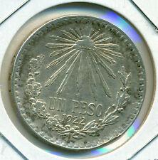 1922 MEXICO UN PESO, VERY FINE-EXTRA FINE, SMALL RIM BUMP, GREAT PRICE!