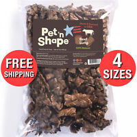 Beef Lung Dog Treats All Natural Healthy Crunchy Mouth Watering Treat Bite Ounce