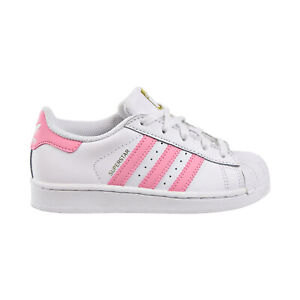 Adidas Superstar C Little Kids Shoes White-Light Pink-Golden Metallic BY3718