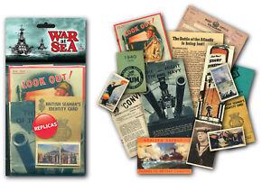 War at Sea (Navy) Memorabilia Pack with over 20 pieces of Replica Artwork