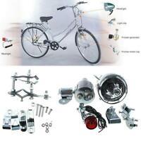 Generatore attrito 12V Dinamo motorizzato per bici LED testa + fanale posteriore