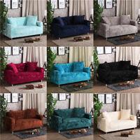 Easy Fit Sofa Slipcover Stretch Cover Luxury Plush Velvet Protector 1-4 Seater