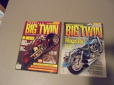 LOT OF 2 BIG TWIN BY CYCLE WORLD MAGAZINE MOTORCYCLE MAGAZINES,FIRST 2 ISSUES EV