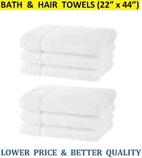 ⭐ 100% Cotton Bath Towels (12 Pack, 22 x 44 inch) for Hotel Spa Pool Gym - White