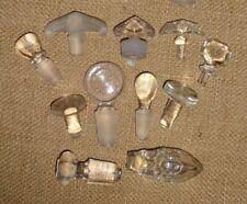 Lot of 11 Vintage Glass/Crystal Perfume & Bottle Stoppers Assorted Sm-Med