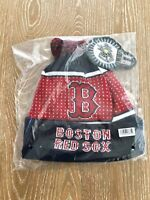 Boston Red Sox MLB Knit Winter Hat With LED Lights Around Logo Rim