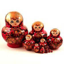 Poupée Russe rouge - Poupee Russe collection - Matriochka 10 p - Cadeau original