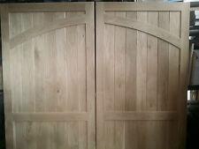 Arch Side Hung solid Oak Garage Doors 7ft high x 7 ft wide