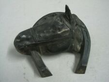 Antique ink well inkstand in metal with a horse and with container VA Portugal