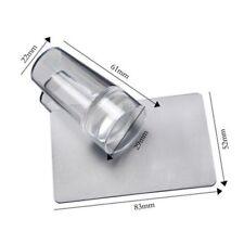 Clear Silicone Jelly Nail Art Stamper & Scraper Cap Stamping Tool E7CX