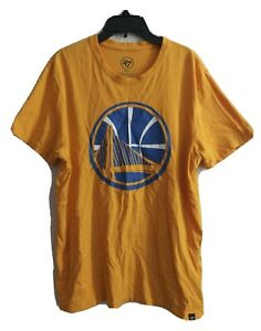 Golden State KEVIN DURANT SHIRT 47 BRAND NBA BASKETBALL Yellow #35 shirt Sz M