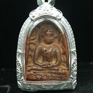 Rare Antique Ancient Siam Sum Kor,Thai Buddha Amulet Pendant 7